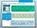 kmic activities include