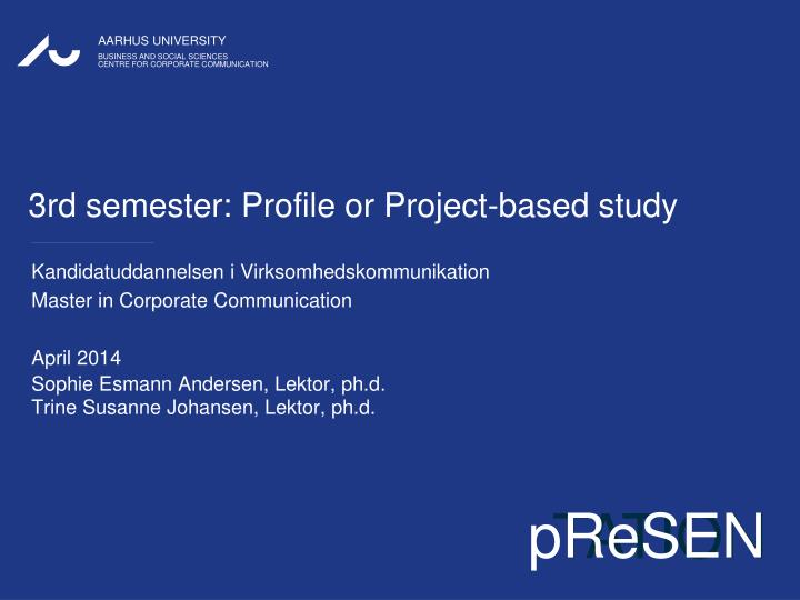 3rd semester profile or project based study n.