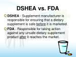 dshea vs fda