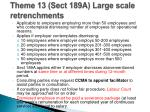 theme 13 sect 189a large scale retrenchments