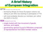 a brief history of european integration