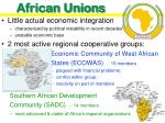 african unions