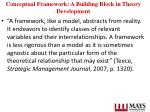 conceptual framework a building block in theory development