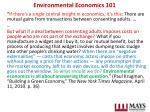environmental economics 101