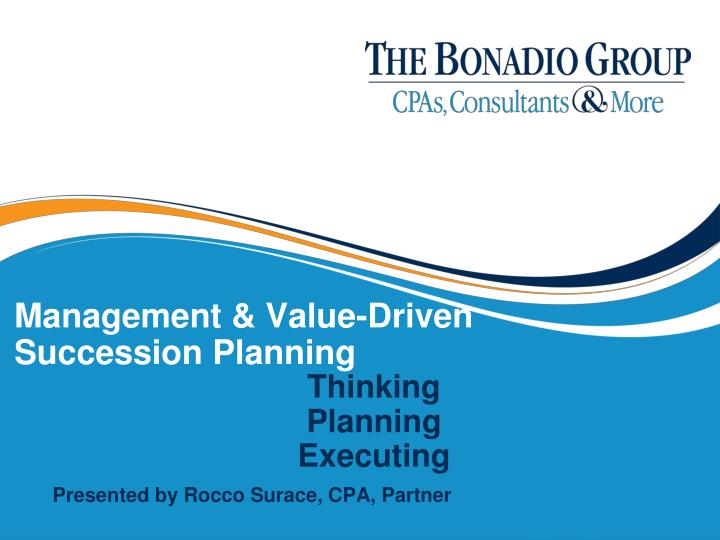 management value driven succession planning n.