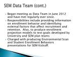sem data team cont