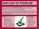 analysis of problem