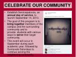 celebrate our community