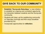 give back to our community