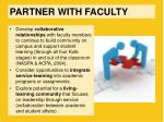 partner with faculty