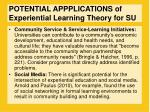 potential appplications of experiential learning theory for su