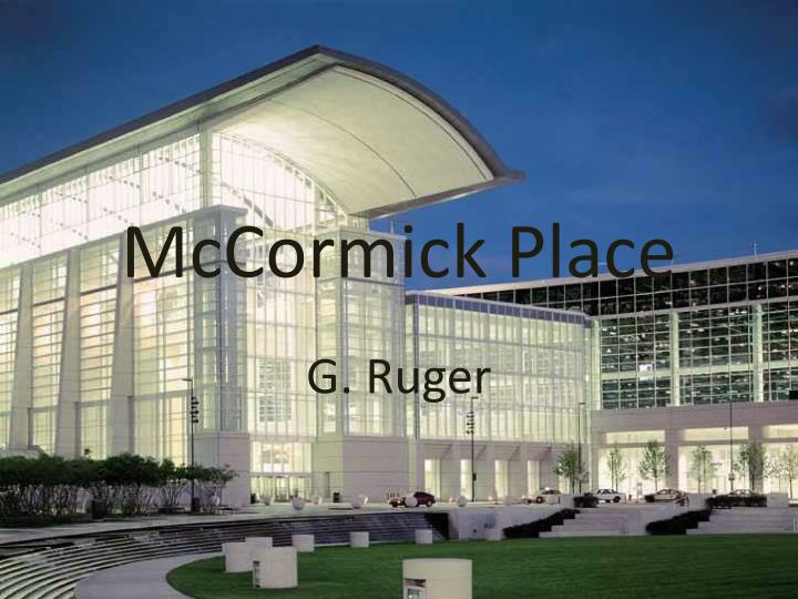 mccormick place n.