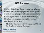 aca for 2014