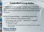 controlled group rules1