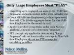 only large employers must play
