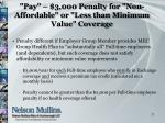 pay 3 000 penalty for non affordable or less than minimum value coverage