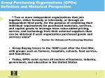 group purchasing organizations gpos definition and historical perspective