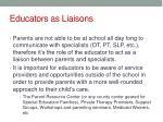 educators as liaisons