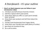 a storyboard it s your outline
