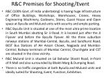 r c premises for shooting event