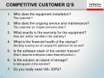 competitive customer q s