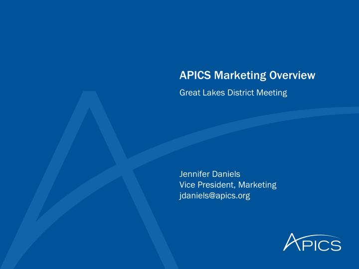 apics marketing overview n.