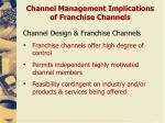 channel management implications of franchise channels1