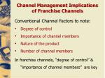 channel management implications of franchise channels5