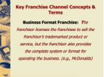 key franchise channel concepts terms2