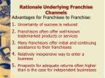 rationale underlying franchise channels1