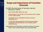 scope and importance of franchise channels