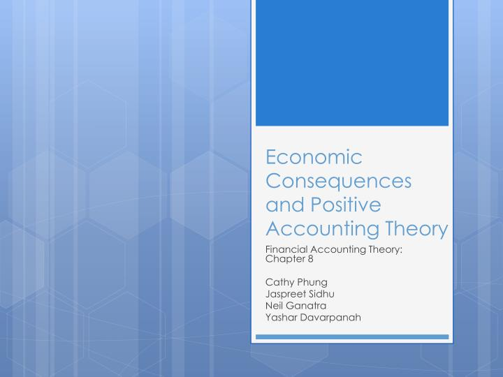 economic consequences and positive accounting theory n.