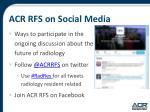 acr rfs on social media