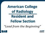american college of radiology resident and fellow section