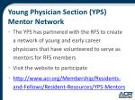 young physician section yps mentor network