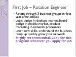first job rotation engineer