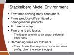 stackelberg model environment