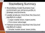 stackelberg summary