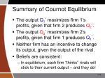summary of cournot equilibrium