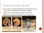 lateral flow tests history