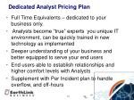 dedicated analyst pricing plan