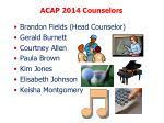 acap 2014 counselors