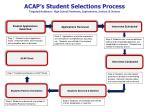 acap s student selections process targeted audience high school freshmen sophomores juniors seniors