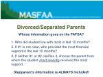 divorced separated parents