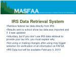 irs data retrieval system