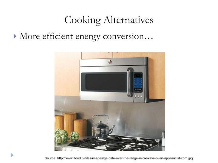 Cooking Alternatives