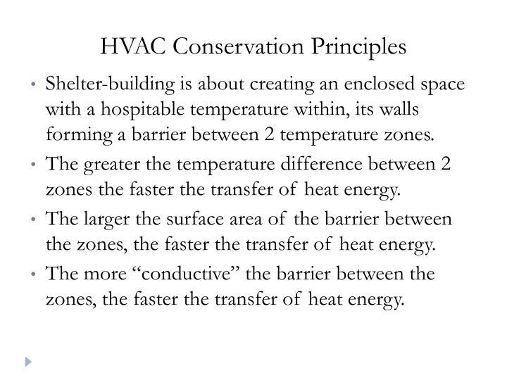 HVAC Conservation Principles