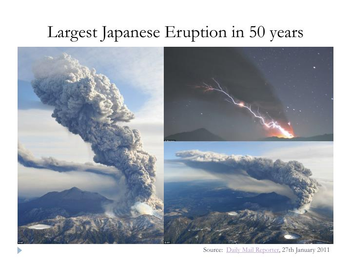 Largest Japanese Eruption in 50 years
