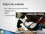 tallycats website
