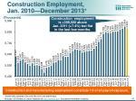 construction employment jan 2010 december 2013